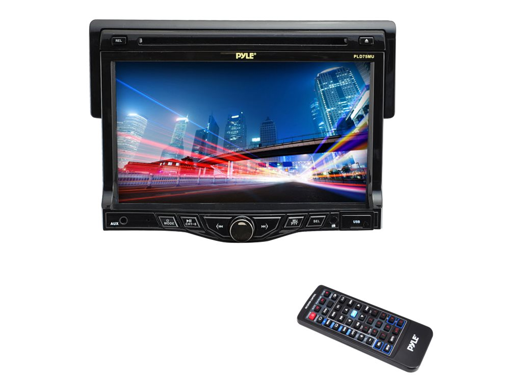 Pyle CD MP3 USB SD Slot AM FM RDS 7 Touch Screen TFT LCD Monitor System, PLD75MU