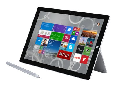 Microsoft Bundle Surface Pro 3 Core i5 128GB SSD W8P with Black Type Cover, TS2-00001, 29487545, Tablets