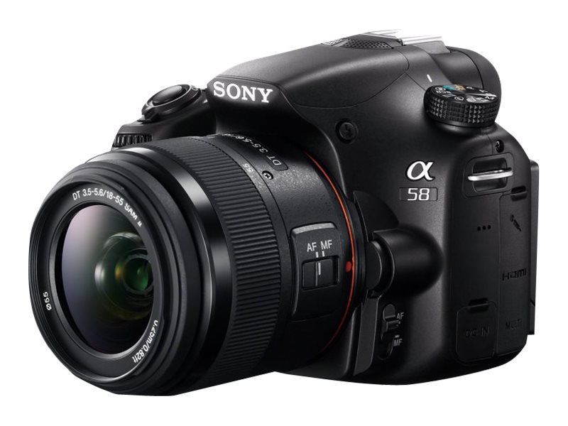 Sony Alpha SLT-A58K Digital SLR Camera, 20.1MP with 18-55mm Lens, SLTA58K