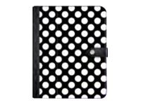 Griffin Back Bay Folio for iPad Air, Black Polka Dots w  Teal Interior, GB37900, 17566852, Carrying Cases - Tablets & eReaders