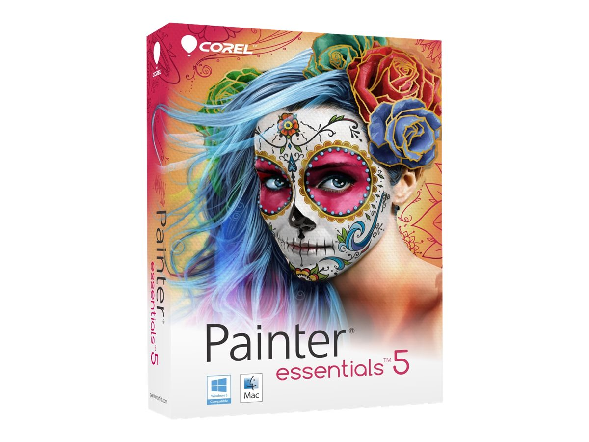 Corel Painter Essentials 5.0 English French Mini-box, PE5EFAMMB, 17967630, Software - Illustration & Utilities