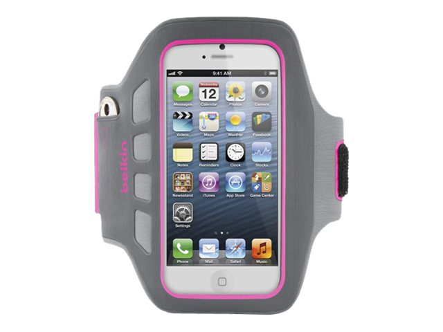 Belkin Ease-Fit Plus Armband, Day Glow for iPhone5, F8W106TTC03, 14860714, Carrying Cases - Phones/PDAs