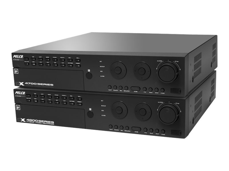 Pelco DX4700 Series H.264 Hybrid Video Recorder, 16-Channel, 2MP, 30IPS, DVD, 1TB, DX4716-1000, 12652778, Security Hardware