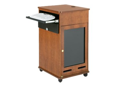 Da-Lite 17 Space Equipment Rack Cart with Keyboard Shelf, Oak Laminate, 99480LOL, 12850598, Computer Carts