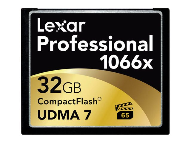 Lexar 32GB Professional 1066x Compact Flash Memory Card, LCF32GCRBNA1066, 17677819, Memory - Flash