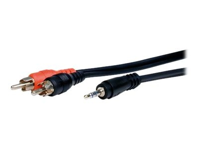 Comprehensive Standard Series 3.5mm Stereo (M) to 2-RCA Cable, 6ft