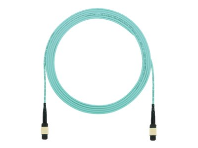 Panduit MPO-MPO 50 125 OM4 Multimode LSZH Fiber Cable, Aqua, 5m