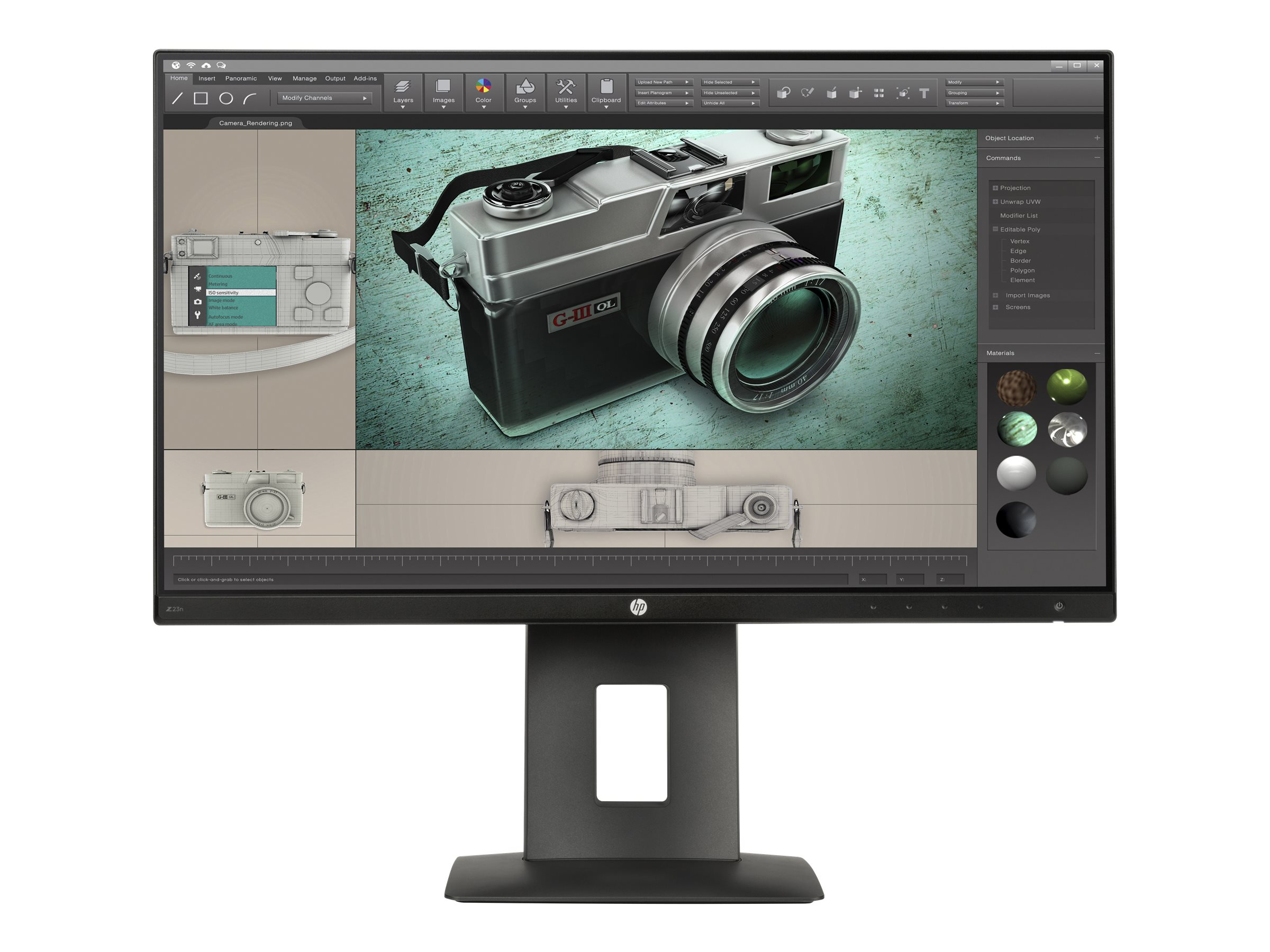 HP 23 Z23n Full HD LED-LCD Monitor, Black, M2J79A4#ABA, 30935739, Monitors - LED-LCD