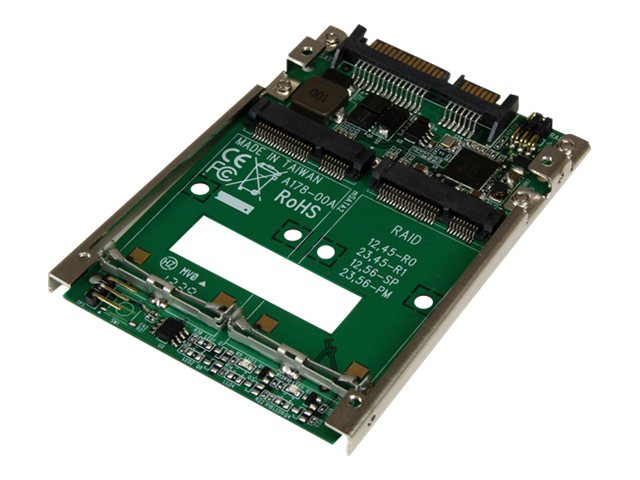 "StarTech.com Dual mSATA Solid State Drive to 2.5"" SATA RAID Adapter Converter"