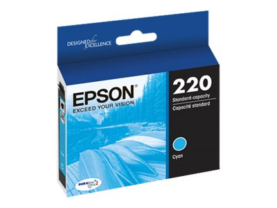 Epson Cyan Standard-Capacity Ink Cartridge for WorkForce WF-2630, WF-2650 & WF-2660, T220220, 18227043, Ink Cartridges & Ink Refill Kits