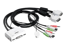 TRENDnet 2-port DVI USB KVM Switch Kit with Audio, TK-214I, 12440003, KVM Switches