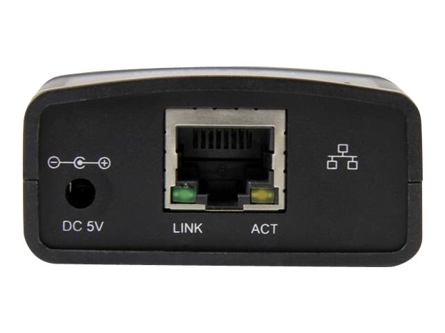 StarTech.com 10 100Mbps Ethernet to USB 2.0 Network LPR Print Server, PM1115U2