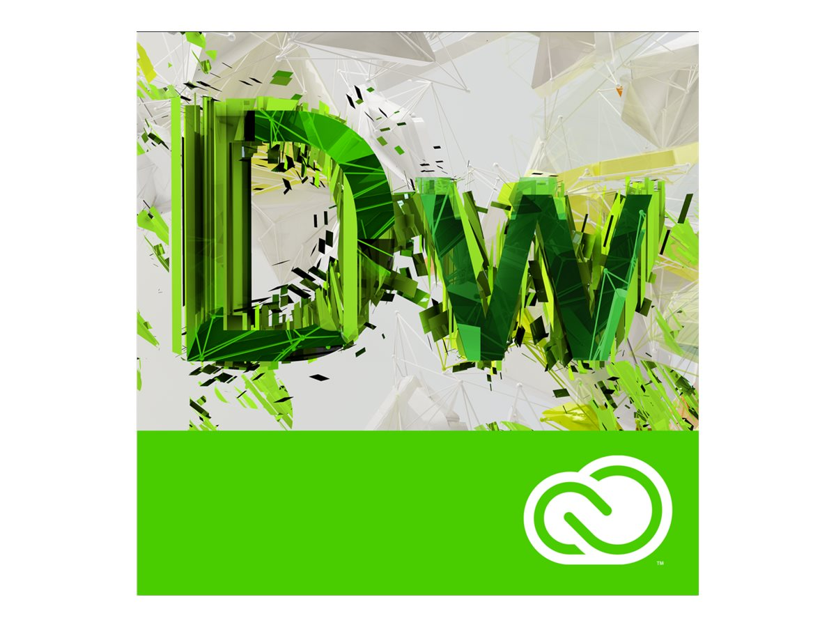 Adobe Corp. VIP Dreamweaver CC MultiPlat Lic Sub 1 User Level 1 1-9 12 mo., 65270367BA01A12, 31709320, Software - Programming Tools