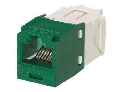 Panduit Cat6, RJ-45, 8-position, 8-wire Universal Module, Green (24-pack)