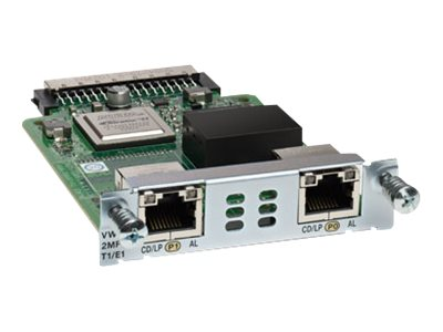 Cisco 2-port 3Gen. Multiflex Trunk Voice WAN Interface Card T1 E1, VWIC3-2MFT-T1/E1=, 13815760, Network Voice Router Modules