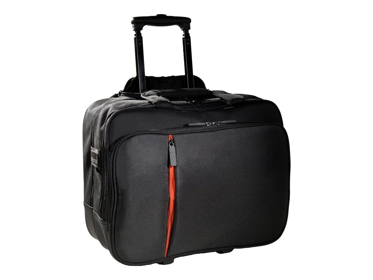 Eco Style Luxe Rolling Case, Fits 15.6 Notebook, Black, ELUX-RC14
