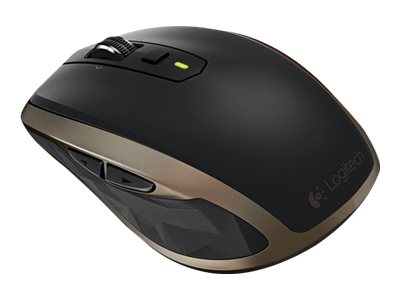 Logitech MX Anywhere 2 Wireless Mobile Mouse, Black Gold, 910-004373