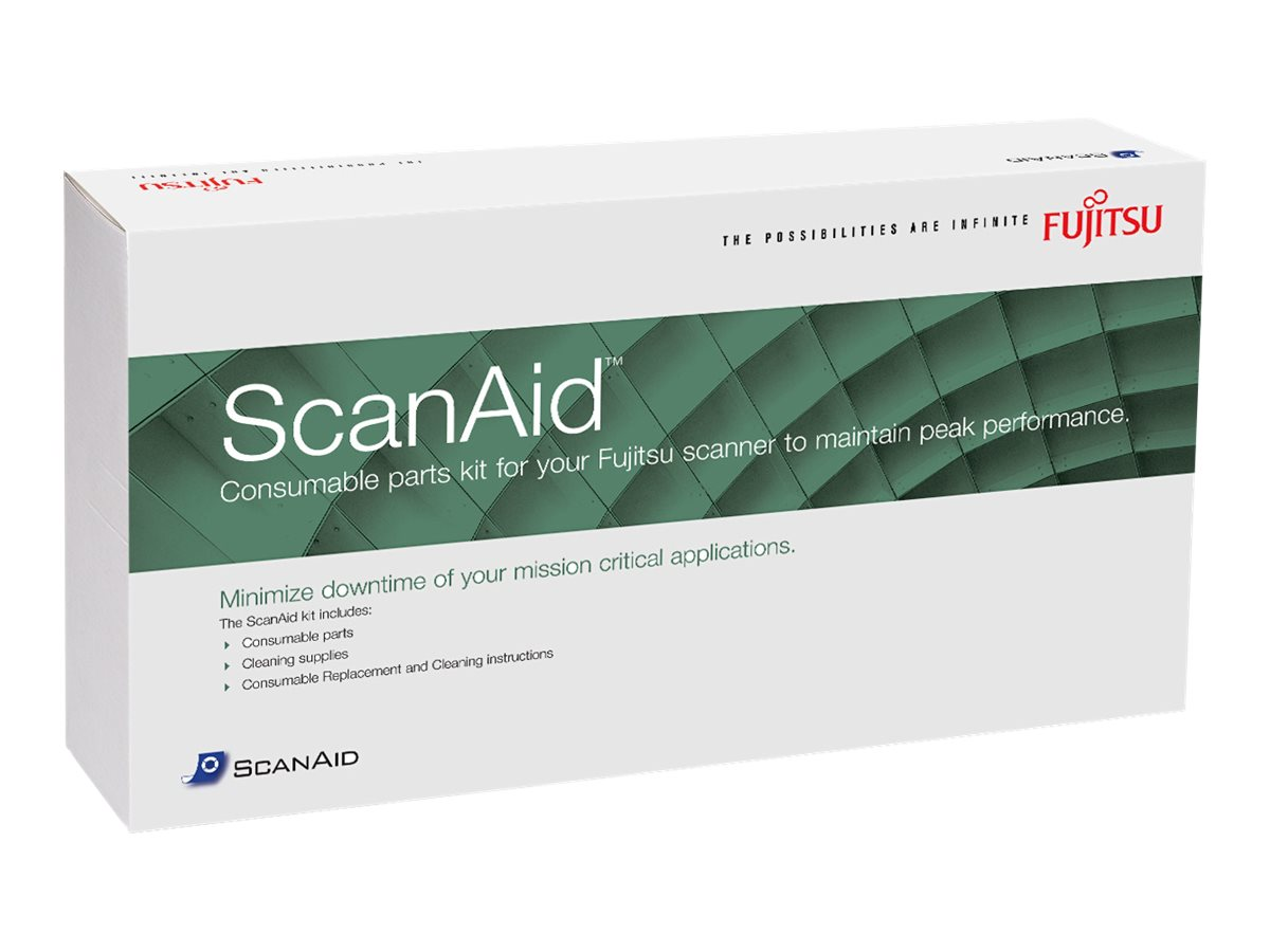Fujitsu ScanAid Cleaning and Consumables Kit for fi-6X40 Series, CG01000-524801, 8224121, Scanner Accessories