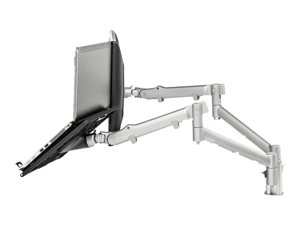 Atdec Dual Spring-Assisted Monitor Notebook Combination Desk Mount, SNCS10S