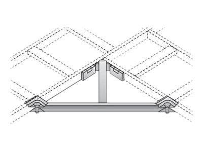 Black Box Ladder Rack Corner Support Bracket Kit, RM693, 12452477, Rack Cable Management