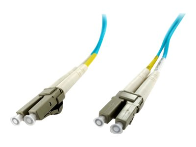 Axiom LC-LC 50 125 OM4 Multimode Duplex Fiber Optic Cable, Aqua, 60m