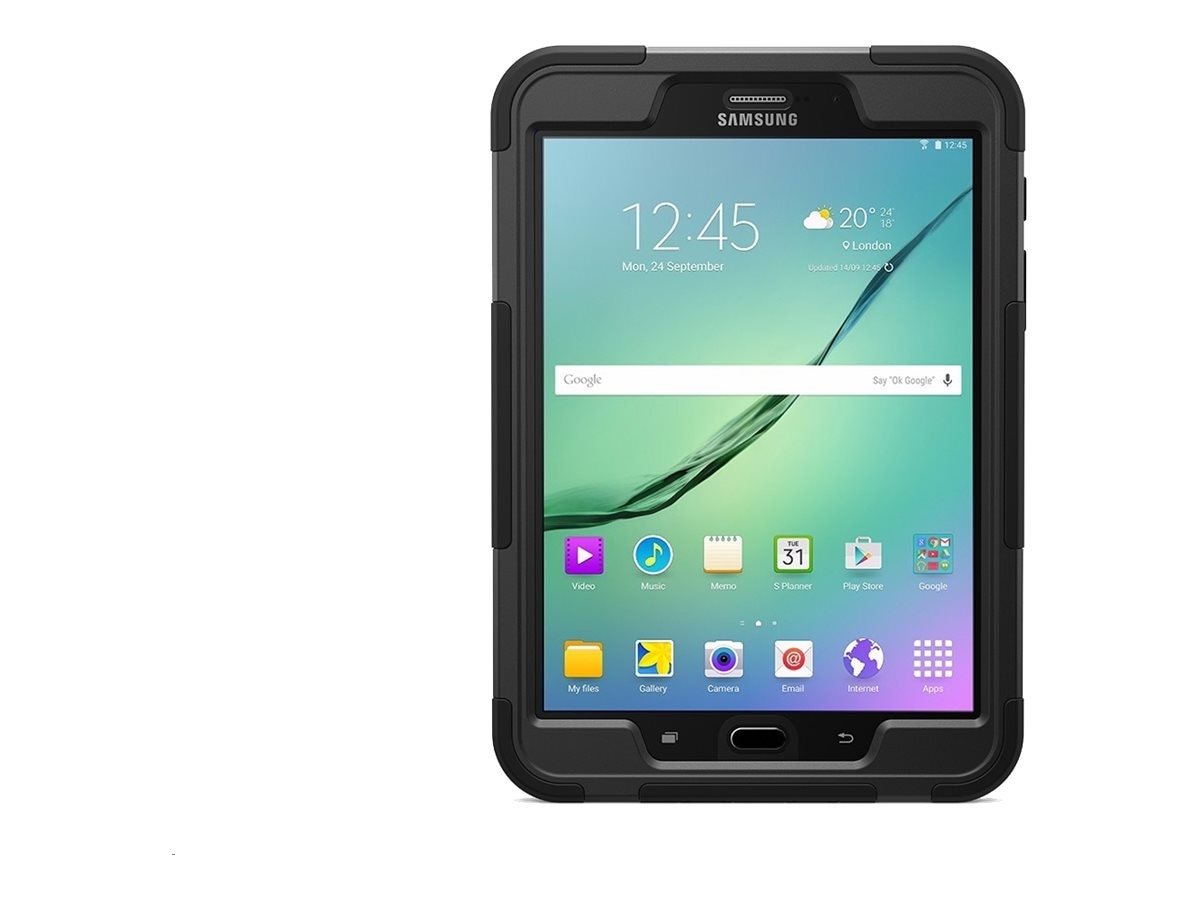 Griffin Survivor Slim for Galaxy Tab S2 8.0, Black, GB42005, 30720674, Carrying Cases - Tablets & eReaders