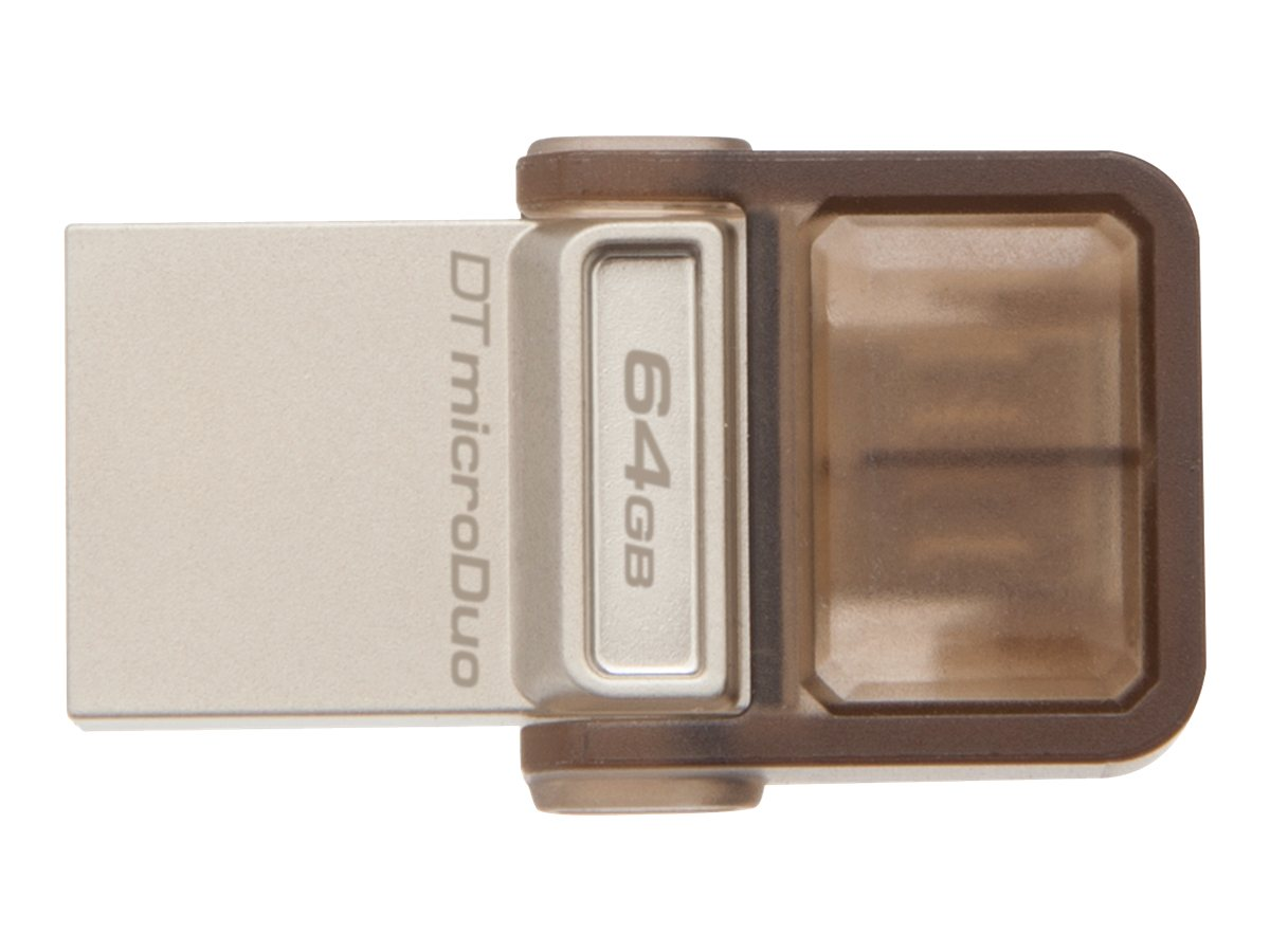 Kingston 64GB DataTraveler MicroDuo USB Flash Drive, DTDUO/64GB, 17042717, Flash Drives