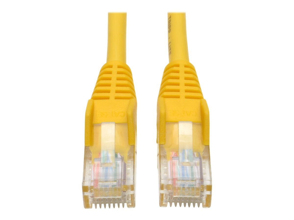 Tripp Lite Cat5e RJ-45 M M Snagless Molded Patch Cable, Yellow, 10ft