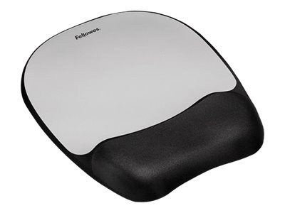 Fellowes Memory Foam Silver Mouse Pad Wrist Rest, 9175801, 12526430, Ergonomic Products