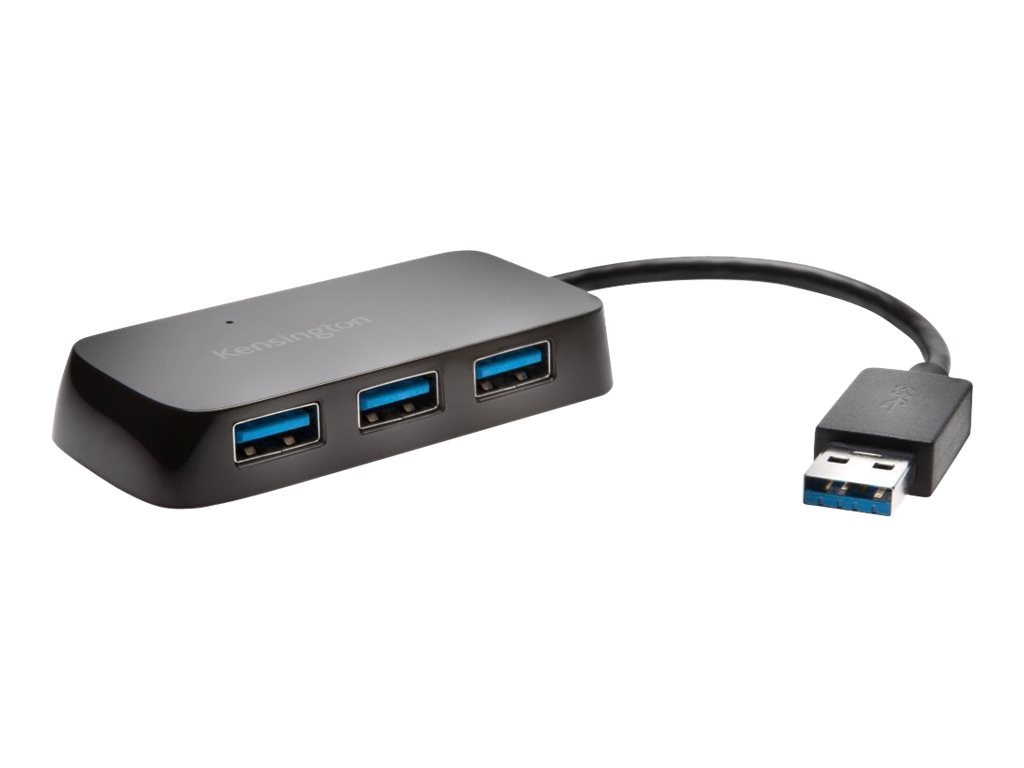 Kensington UH4000 USB 3.0 4-Port Hub, Black, K33978WW
