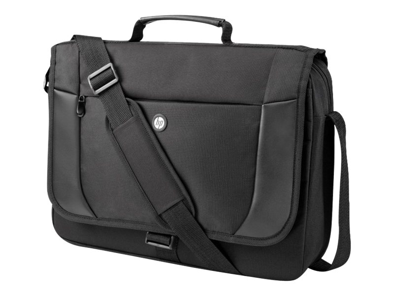 HP Essential Messenger Case, Fits up to 17.3 Screen, H1D25AA, 14439840, Carrying Cases - Notebook