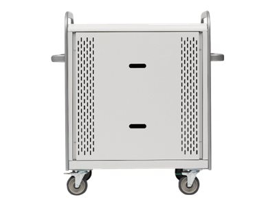 Scratch & Dent Bretford Manufacturing 30-Unit Laptop Storage Cart with Electric, Removable Back Panel, 5in Casters, MDMLAP30BP-CTAL, 30928491, Computer Carts