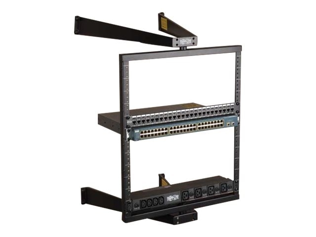 Tripp Lite Wall-Mount Pivoting Open Frame Rack, 12U, SRWO12US, 12053804, Racks & Cabinets