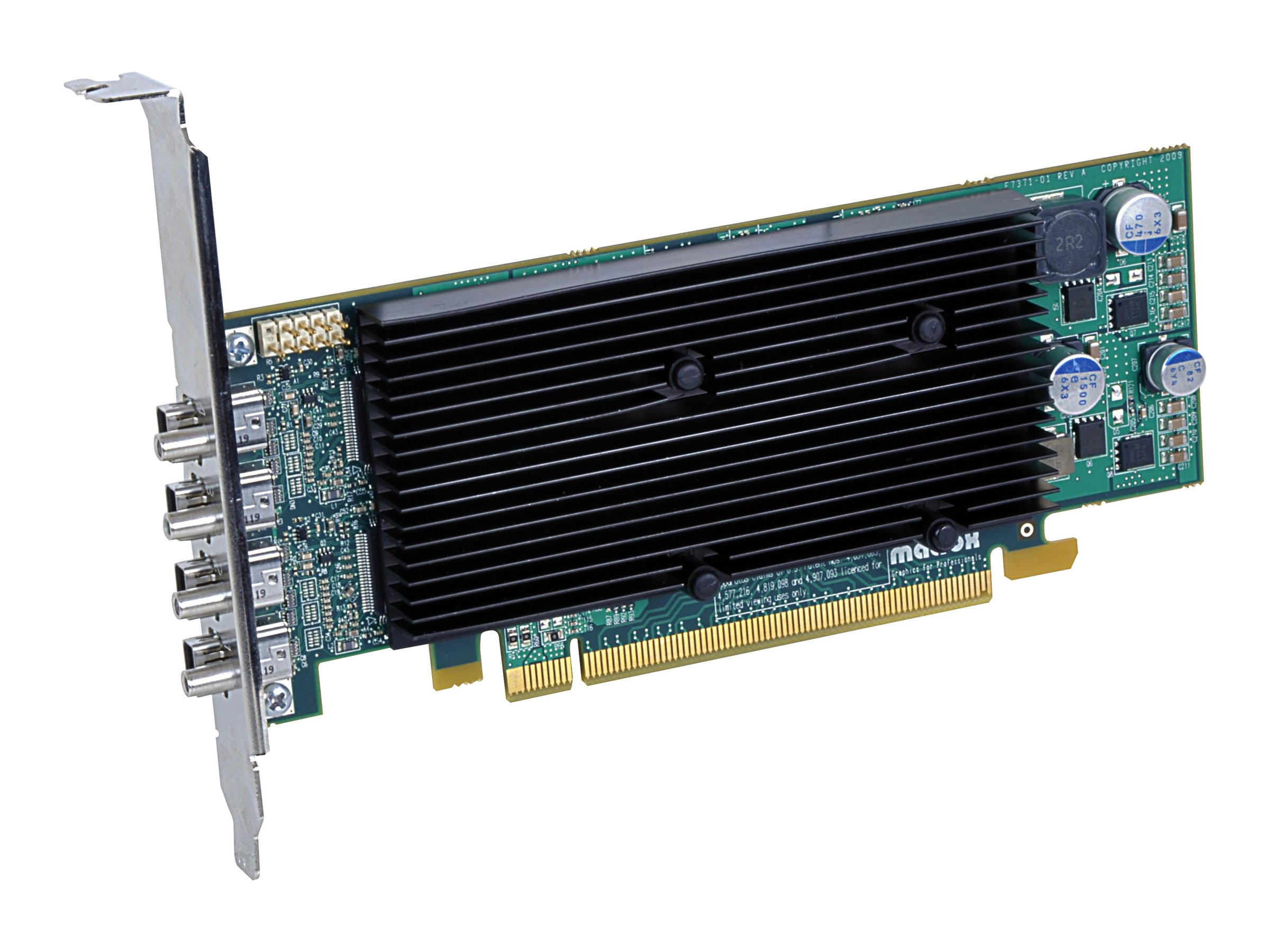 Matrox M9148LP PCIe x16 Graphics Card, 1GB, M9148-E1024LAF