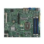 Supermicro Motherboard, Intel C204, Core i3, ATX, Max 32GB DDR3, PCIEX16, PCI, 4GBE, Video, SATA3, IPMI