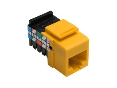 Leviton Category 3 QuickPort Snap-In Connector, 8P8C, Yellow, 41108-RY3