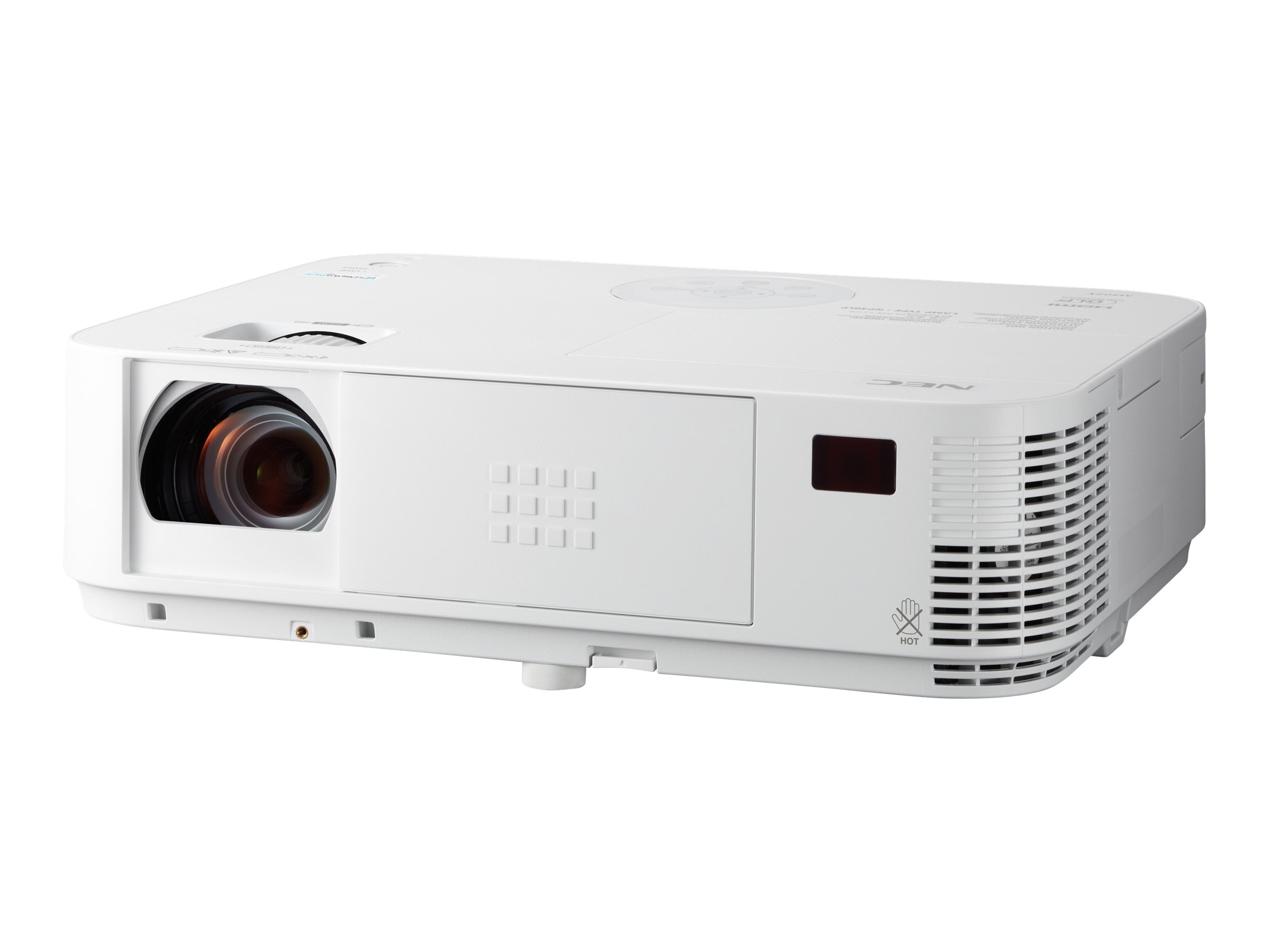 NEC M363W WXGA 3D DLP Projector, 3600 Lumens, White