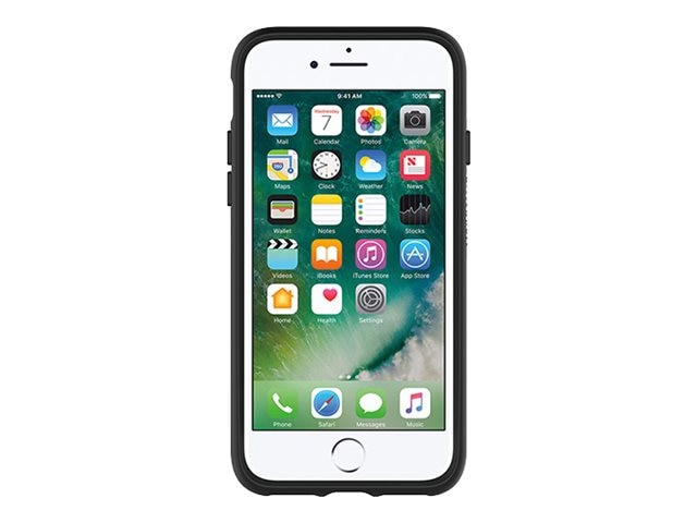OtterBox Symmetry Clear Case for iPhone 7, Black Crystal