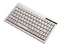 Adesso Mini Keyboard PS 2 Works w Axis Scan Servers - White, ACK-595, 4817907, Keyboards & Keypads