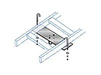 Black Box Rack-to-Runway Mounting Plate, Black, RM653-R2, 7582576, Premise Wiring Equipment