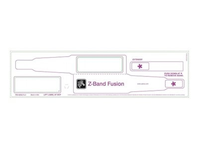 Zebra 3 x 11 Polypro DT Tag Z-Band Fusion Wristband (200 Labels-Per-Roll), FID-ADULT-L3-1-200T