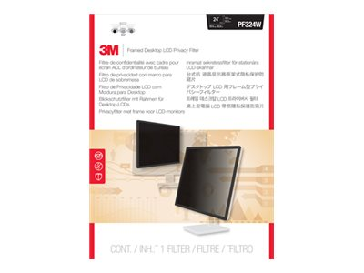 3M Framed Privacy Filter for 24 Widescreen Desktop LCD CRT Monitor, PF324W, 9482958, Glare Filters & Privacy Screens