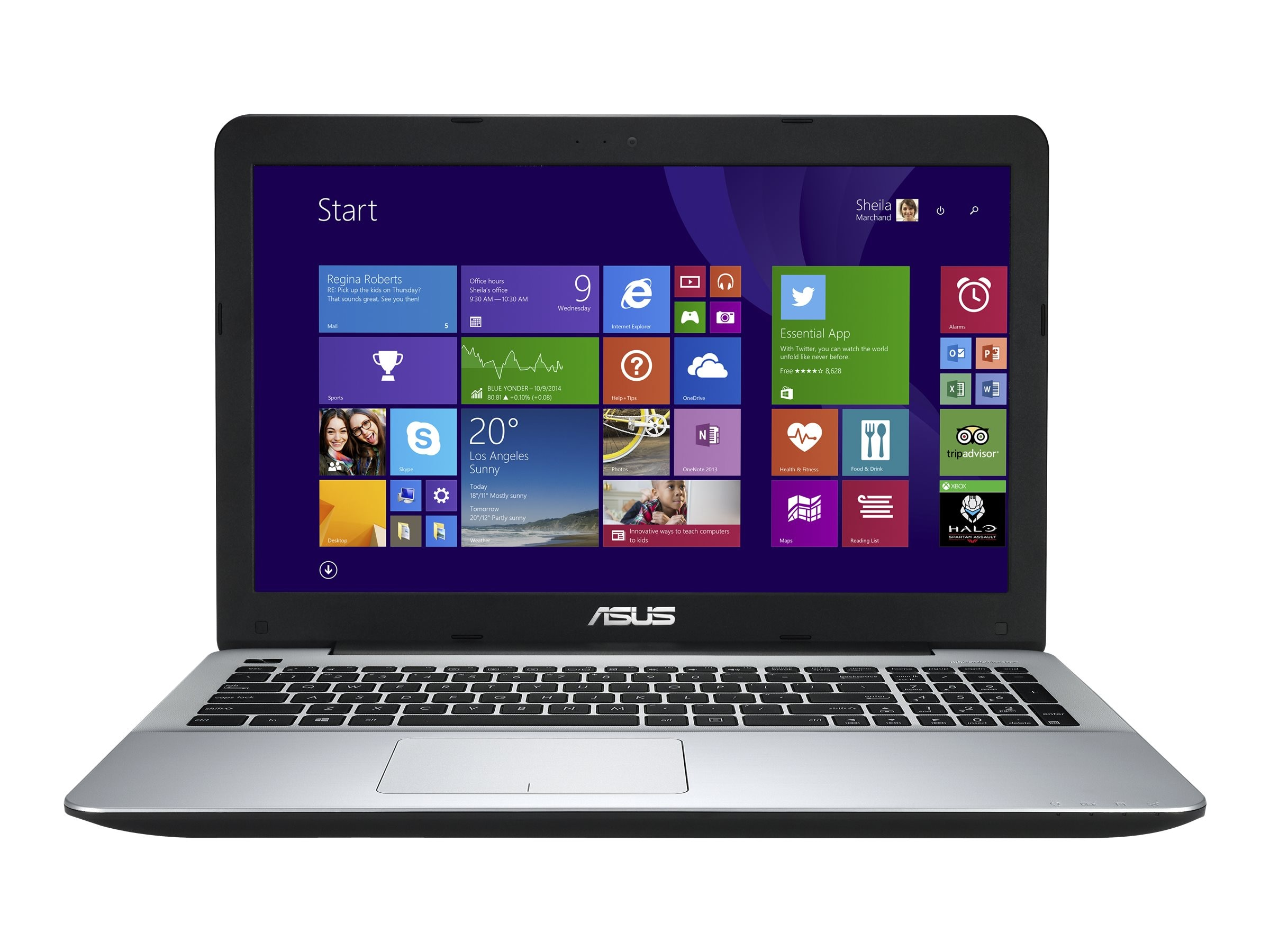 Asus F555LA-EH51 Core i5-5200U 2.2GHz 8GB 1TB DVD-RW ac BT WC 2C 15.6 HD W10H64