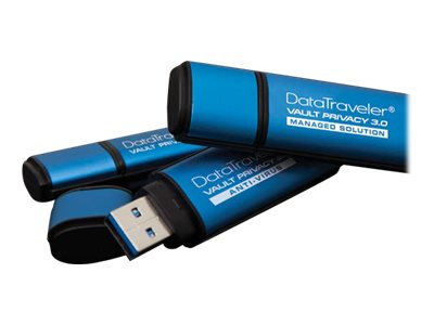 Kingston 4GB DataTraveler Vault Privacy 3.0 Flash Drive, Blue