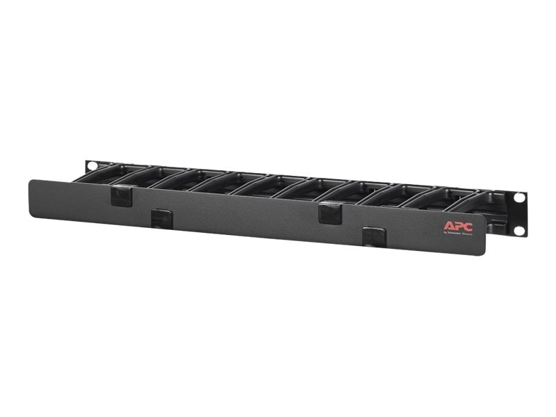 APC Horizontal Cable Manager, 1U x 4 Deep, Single-Sided w  Cover, AR8602A