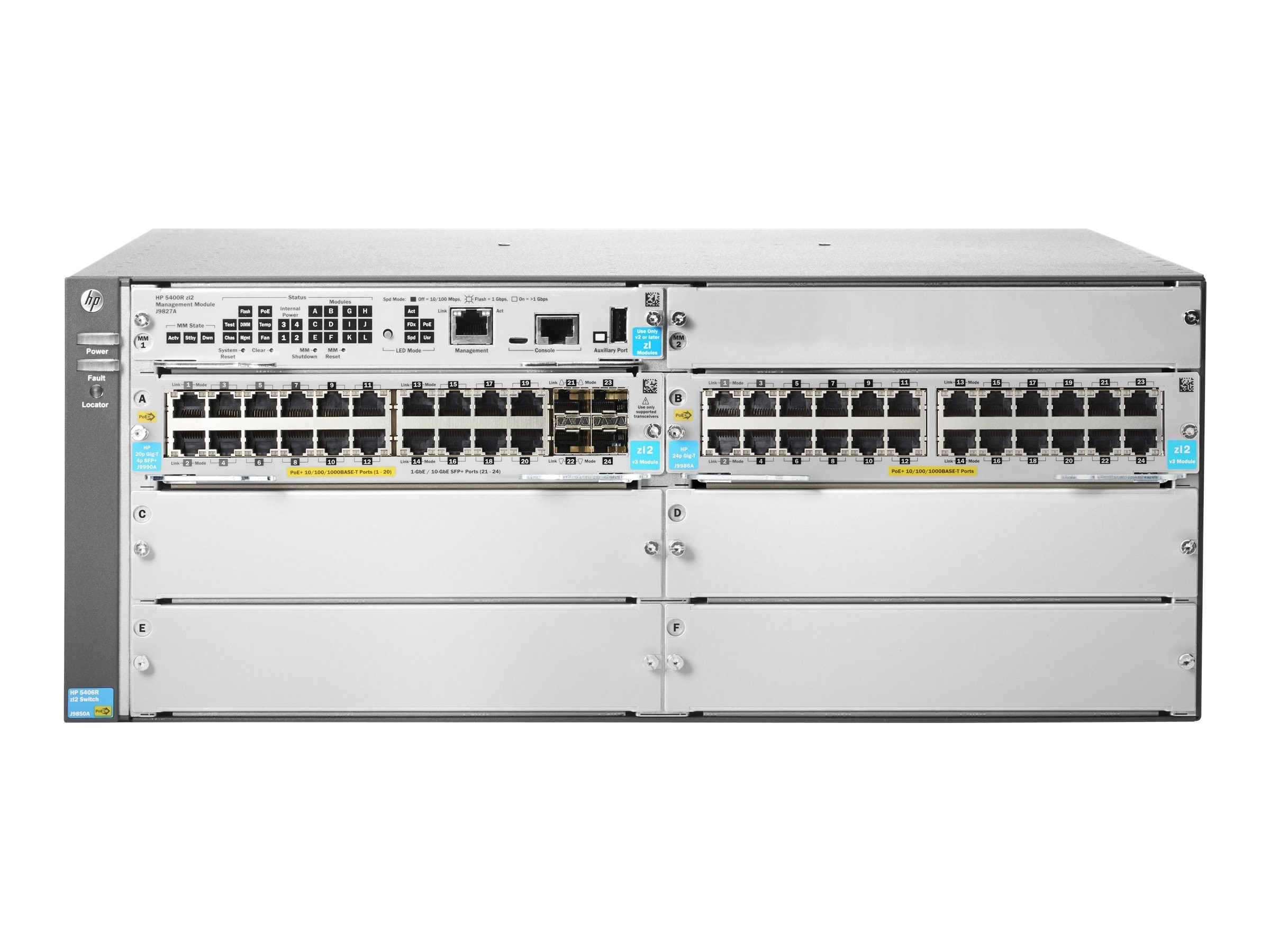 HPE 5406R 44xGT POE+ 4xSFP+ V3 ZL2 Switch
