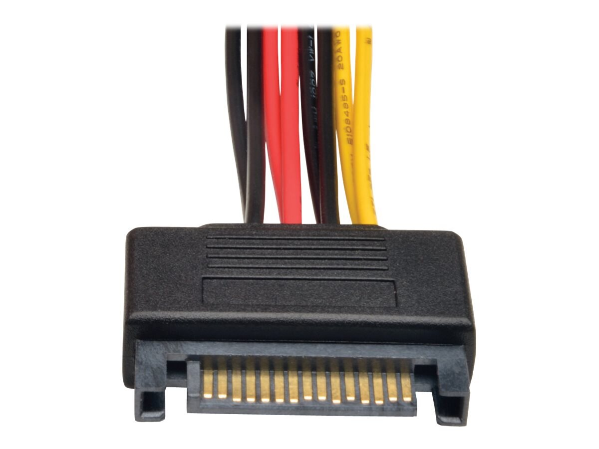 Tripp Lite 15-Pin Serial ATA M F Power Y Splitter Cable, 6in, P947-06N-2P15
