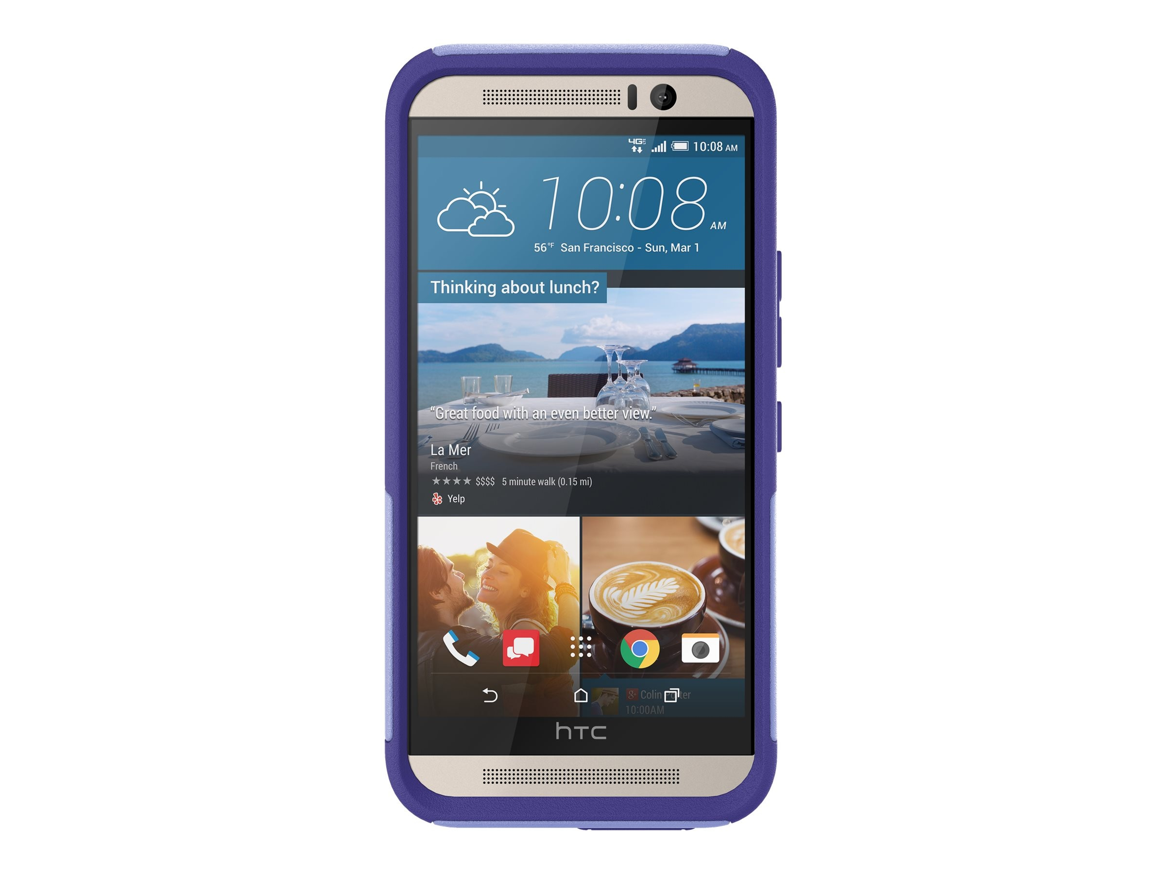 OtterBox Commuter Series Case for HTC One M9, Purple Amethyst