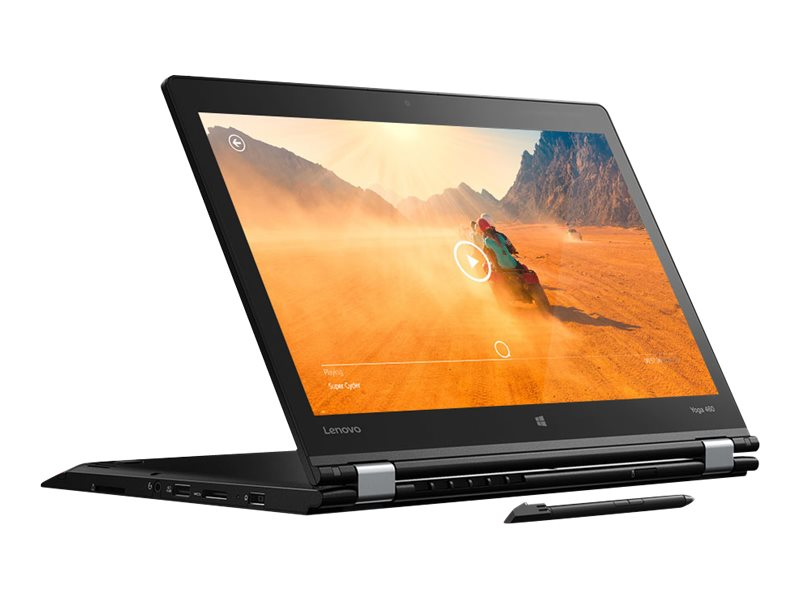 Lenovo TopSeller ThinkPad Yoga 460 Core i5-6200U 2.3GHz 8GB 256GB OPAL2 ac BT FR WC Pen 14 FHD MT W10P64, 20EM001UUS, 31495181, Notebooks - Convertible