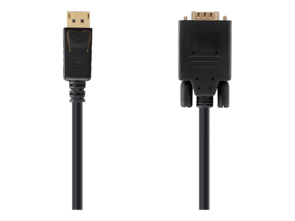 Belkin Displayport to VGA Cable, M-M, Black, 10ft, F2CD033B10